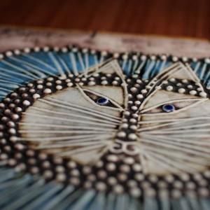 リサ・ラーソン UNIK陶板シリーズ ネコ