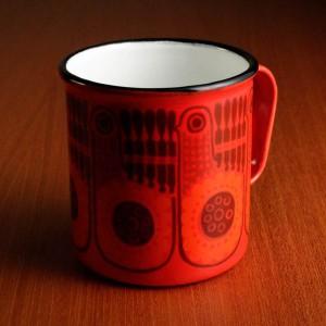 フィネル カイ・フランク マグカップ(赤い鳥)