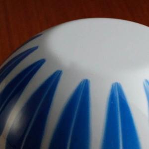 キャサリンホルム ロータス 14cm ボウル ホワイト&ブルー
