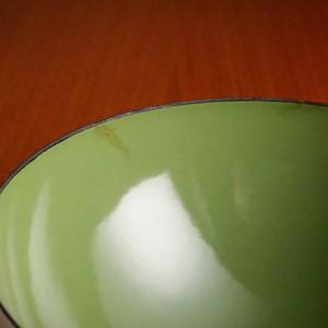 キャサリンホルム ロータス 14cm ボウル ホワイト&グリーン
