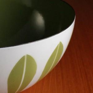 キャサリンホルム ロータス 20cm ボウル ホワイト&グリーン