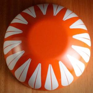キャサリンホルム ロータス 24cm ボウル オレンジ&ホワイト