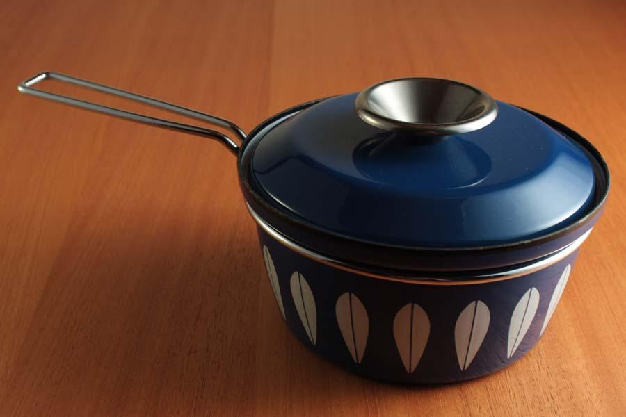 キャサリンホルム ロータス 18cm 片手鍋 ブルー&ホワイト