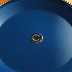 キャサリンホルム ロータス 27cm 浅底 両手鍋 ブルー&ホワイト