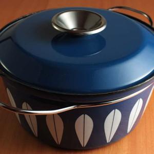 キャサリンホルム ロータス 22cm 両手鍋 ブルー&ホワイト