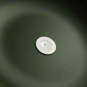 キャサリンホルム ロータス 22cm 両手鍋 ホワイト&グリーン