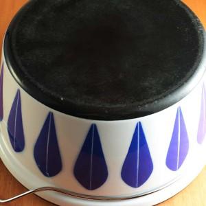 キャサリンホルム ロータス 32cm 両手鍋 ホワイト&ブルー